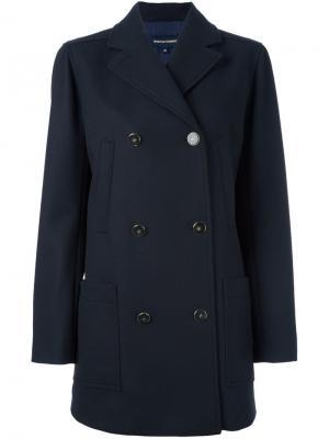 Двубортное пальто Vanessa Seward. Цвет: синий