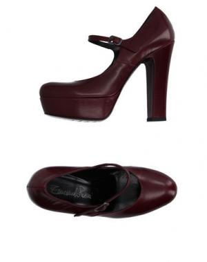 Туфли EMANUELA PASSERI. Цвет: красно-коричневый