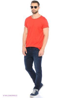 Футболка United Colors of Benetton. Цвет: белый, красный, оранжевый