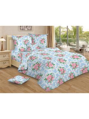 Комплект постельного белья Amore Mio  Viollet 1,5 сп. Цвет: голубой, розовый