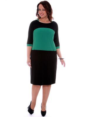 Платье SVESTA. Цвет: зеленый, черный