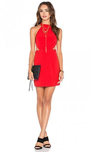 Обтягивающее платье show it off NBD. Цвет: красный