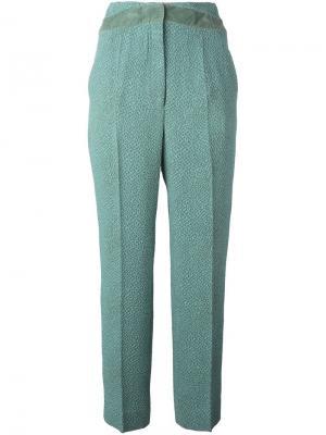 Зауженные брюки клоке Marco De Vincenzo. Цвет: зелёный
