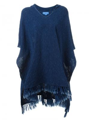 Пончо Malaquite Mih Jeans. Цвет: синий
