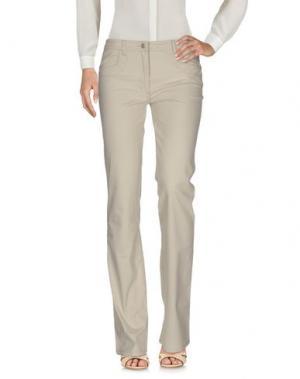 Повседневные брюки BLU BYBLOS. Цвет: бежевый
