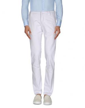 Повседневные брюки ENTRE AMIS. Цвет: белый