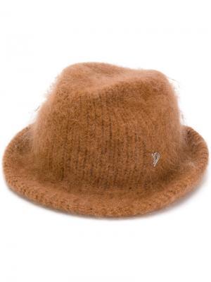 Шляпа с меховым эффектом Dondup. Цвет: коричневый