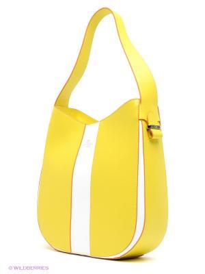 Сумка BARBARA MILANO. Цвет: желтый, белый