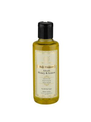 Укрепляющий шампунь Мед и Лимон против перхоти Khadi Natural. Цвет: светло-желтый