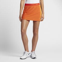 Юбка-шорты для гольфа  Zonal Cooling Swing Knit 35,5 см Nike. Цвет: оранжевый