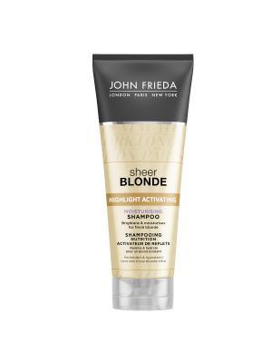 Увлажняющий активирующий шампунь для светлых волос Sheer Blonde, 250 мл John Frieda. Цвет: прозрачный