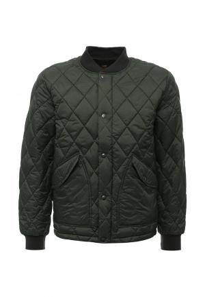 Куртка утепленная Lee. Цвет: зеленый
