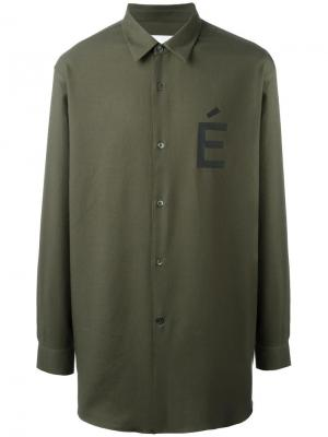Рубашка с принтом É Études. Цвет: зелёный