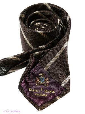 Галстук Sarto Reale. Цвет: коричневый, бежевый
