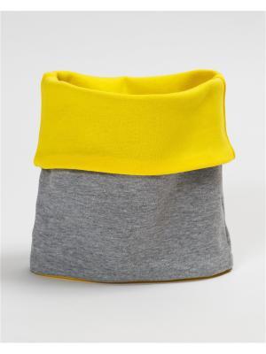 Снуд BODO. Цвет: серый меланж, светло-желтый