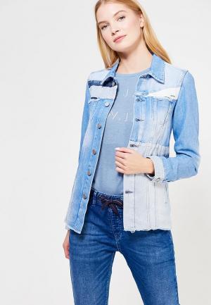 Куртка джинсовая Pepe Jeans. Цвет: голубой
