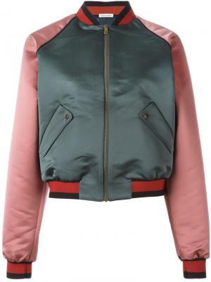 Атласная куртка-бомбер Tomas Maier. Цвет: зелёный