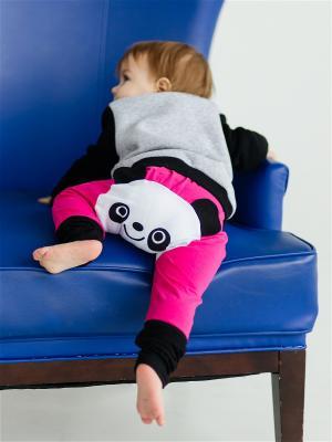 Штанишки для подгузников Панда малина Yuumi. Цвет: малиновый