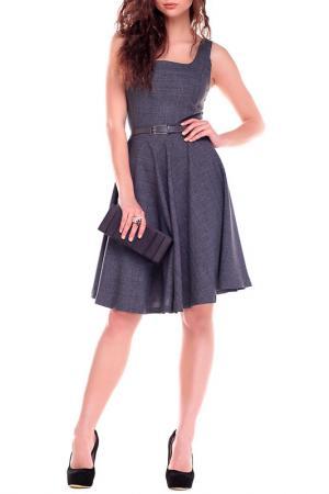 Платье MAURINI. Цвет: графитовый