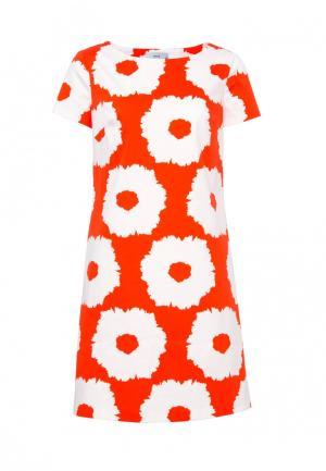 Платье Emka. Цвет: оранжевый
