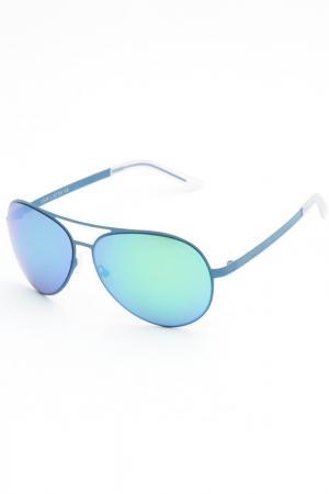 Очки солнцезащитные Lina Latini. Цвет: голубой