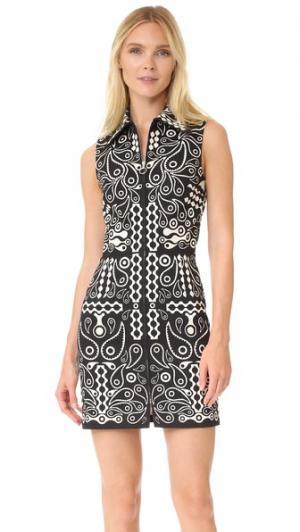 Платье из хлопка с принтом Holly Fulton. Цвет: черный/белый