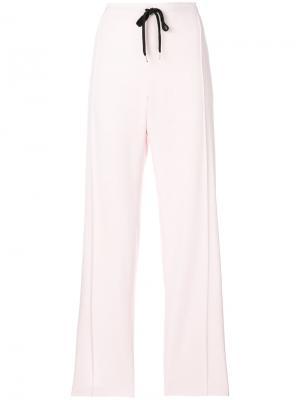 Прямые брюки со шнурком Ermanno Scervino. Цвет: розовый и фиолетовый