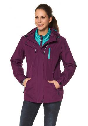 Куртка 3 в 1 POLARINO. Цвет: зелено-синий+темно-серый, черный + ярко-розовый
