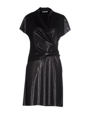 Короткое платье NIU'. Цвет: свинцово-серый