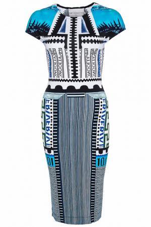 Платье Mary Katrantzou. Цвет: синий