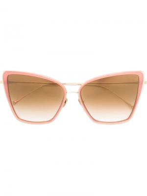 Солнцезащитные очки кошачий глаз Dita Eyewear. Цвет: розовый и фиолетовый