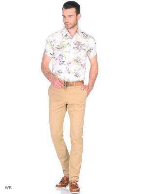 Рубашка AMATO. Цвет: молочный