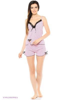 Комплект домашней одежды ( майка, шорты) HomeLike. Цвет: розовый