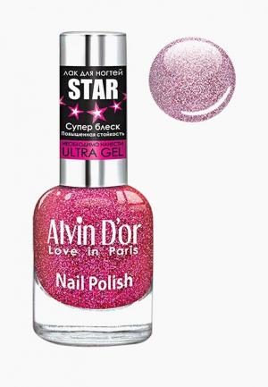 Лак для ногтей Alvin Dor D'or. Цвет: фиолетовый