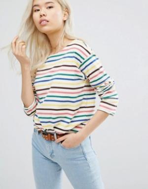 MiH Jeans M.i.h Long Sleeve Stripe Top. Цвет: мульти