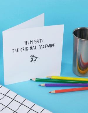 The Naughty Little Card Shop Открытка Mum Spit. Цвет: мульти
