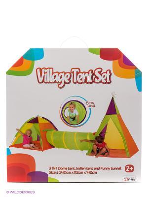 Детский палаточный городок Five Stars. Цвет: зеленый, оранжевый