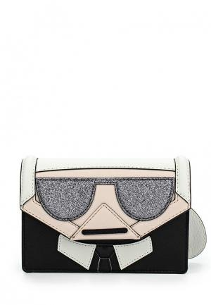 Сумка Karl Lagerfeld. Цвет: черно-белый