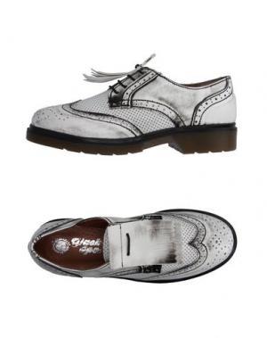 Обувь на шнурках GIACKO. Цвет: белый