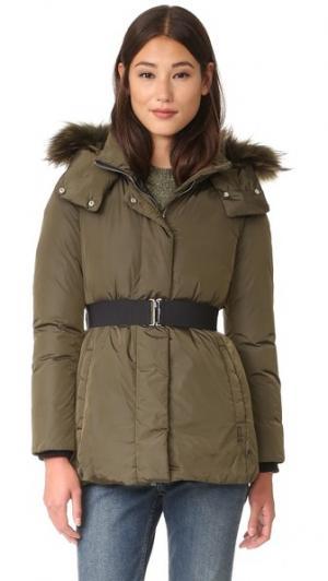Пуховая куртка с меховой отделкой Add Down. Цвет: темно-серый