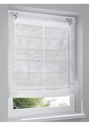 Римская штора Heine Home. Цвет: белый, белый/коричневый, зеленый/желтый