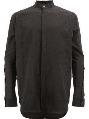 Рубашка с потайной застежкой Masnada. Цвет: чёрный