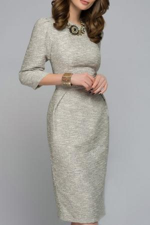 Платье 1001dress. Цвет: серый