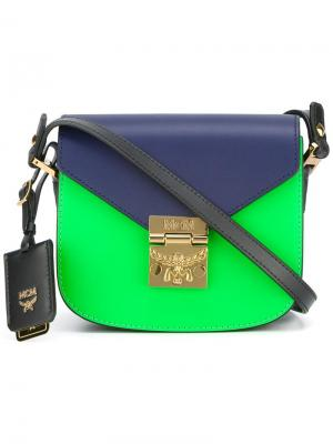 Мини сумка через плечо Patricia MCM. Цвет: синий