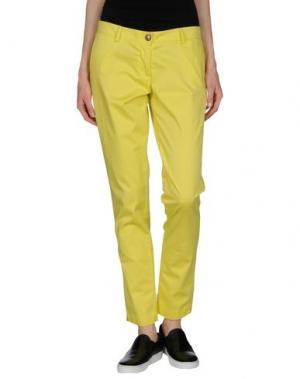 Повседневные брюки VERYSIMPLE. Цвет: желтый