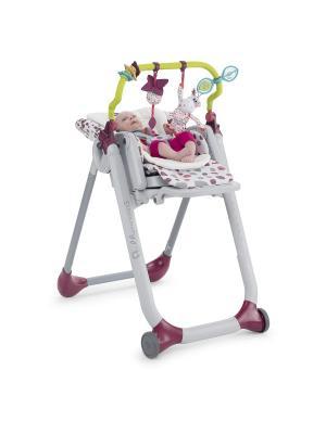 Аксессуары для стульчика Polly Progress CHICCO. Цвет: зеленый, белый, бордовый