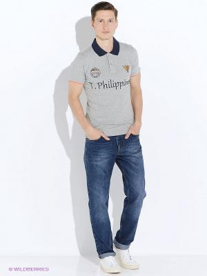 Футболка-поло The Philippines. Цвет: серый