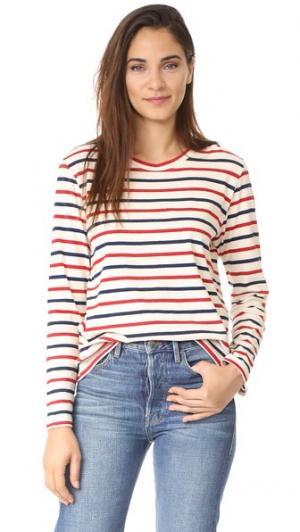 Пуловер в мужском стиле The Lady & Sailor. Цвет: полоска riviera