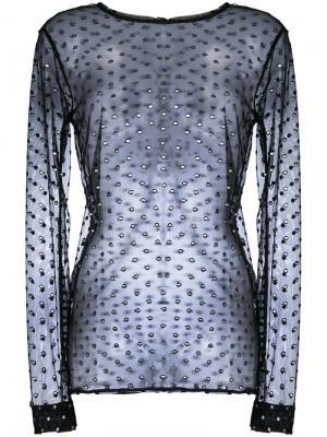 Прозрачная блузка в горох Dodo Bar Or. Цвет: чёрный