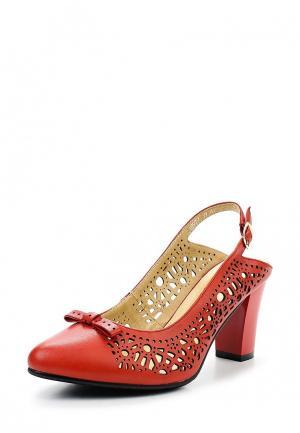 Туфли Ascalini. Цвет: красный